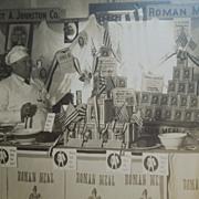Vintage Photograph Of Baker's Shop, Patriotic, Stars & Stripes