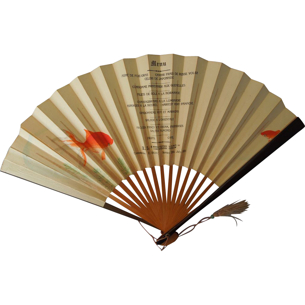 French Hand Painted Fan