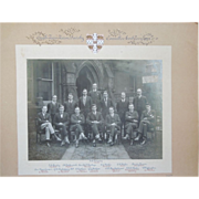 Vintage Photograph of The Cambridge Union Society, Cambridge, England, With Hand Calligraphy Dated 1923
