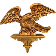 19th Century Hand Carved Wood American Eagle With Pedestal