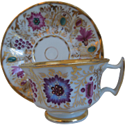 19th Century Porcelain Gilt Cup and Saucer