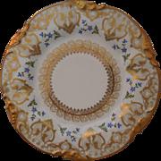 Limoges Porcelain Jean Pouyat Cabinet Plate, Gold Gilt