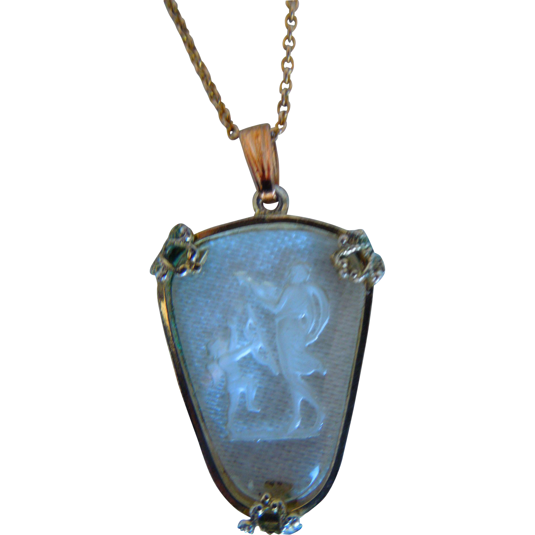 west bubbles blowing etched by mothers pendant isaacs necklace day lucy antique angel german pendants pin intaglio glass