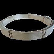 Vintage Sterling Silver Modernist Mexico Bracelet, Signed, 925
