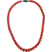 Vintage Natural Salmon Coral Necklace
