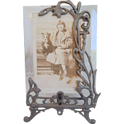 Art Nouveau Photo Frame With Beveled Glass, Circa 1910