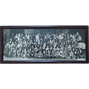 Vintage Photograph Of Halloween Party At Mt. Ida School, Newton, Mass. Dated Oct. 31, 1922