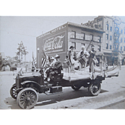 Albumen Photo Of A Parade Celebration On The Fourth Of July, Independence Day In Texas, Patriotic,  Circa 1910