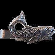 Vintage Peruzzi Sterling Silver Fish Tie Clip