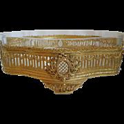 French Baccarat Quality Ormolu Bronze & Crystal Jardiniere Centerpiece Circa 1910