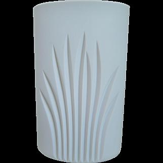20th Century Modernist Rosenthal  Porcelain White Matte Vase, Studio Line, 1970's