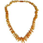 Vintage Baltic Amber Egg Yolk Amber Necklace