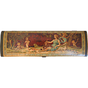 Victorian Neo-Classical Glove Box With Cherubs, Putti
