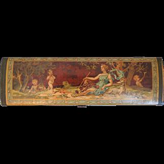 Victorian Neo-Classical Glove Box With Cherubs, Putti