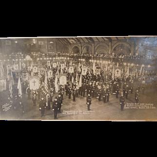 Vintage Large Group Photograph Of The Masonic Knights Templar, Boston, Mass. Dated Feb.11, 1922