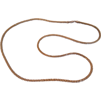 """Vintage Italian Milor Sterling Silver Vermeil Rope Chain Necklace, 30"""""""