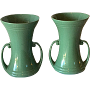 Pr. Of Abingdon Art Pottery Vases