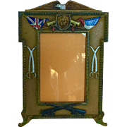 Vintage Enameled Brass or Bronze British Military Frame