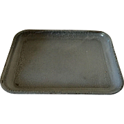 "Large Graniteware Tray 16 3/4"" in length"