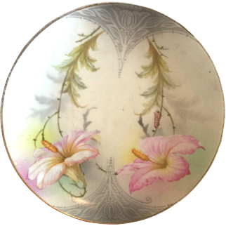 Hand Painted Art Nouveau Period Plate
