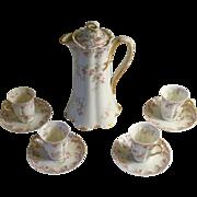 Haviland Limoges Chocolate Set Circa 1900-1910