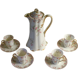 Haviland Limoges Chocolate Set Circa 1900-1910