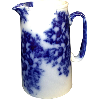Flow Blue Pitcher c. 1870
