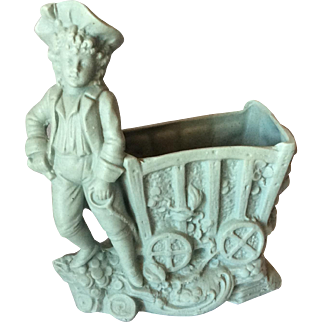 Bisque Porcelain Match Holder/Striker c.1930