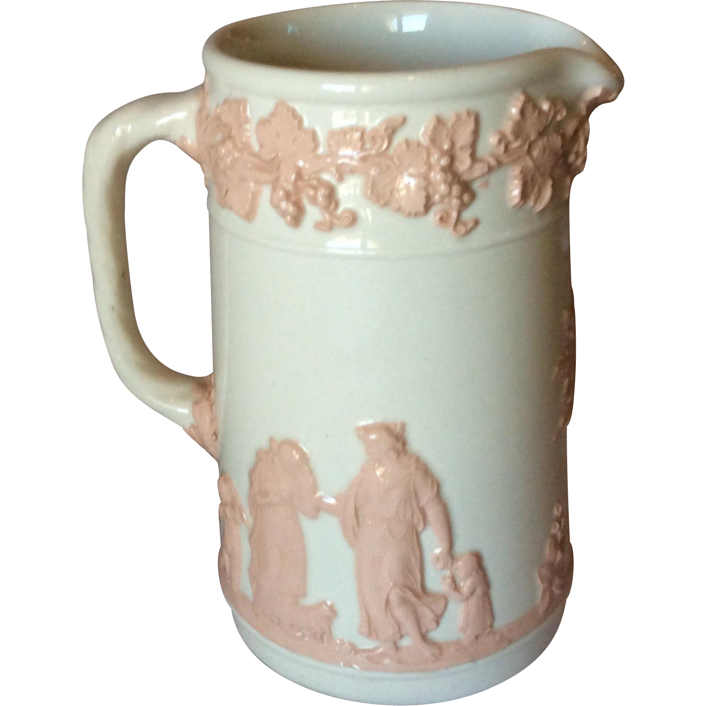 Wedgwood's Etruria Pink and Cream color Milk Jug