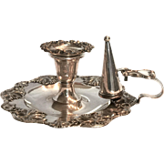 Three Piece Sheffield Silverplate Chamberstick c. 1890