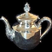 SilverplateTeapot, c. 1900, C. B. Barkes Mfg. Co.
