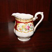 Lady Hamilton Mini Creamer by Royal Albert; Maroon Border, Floral
