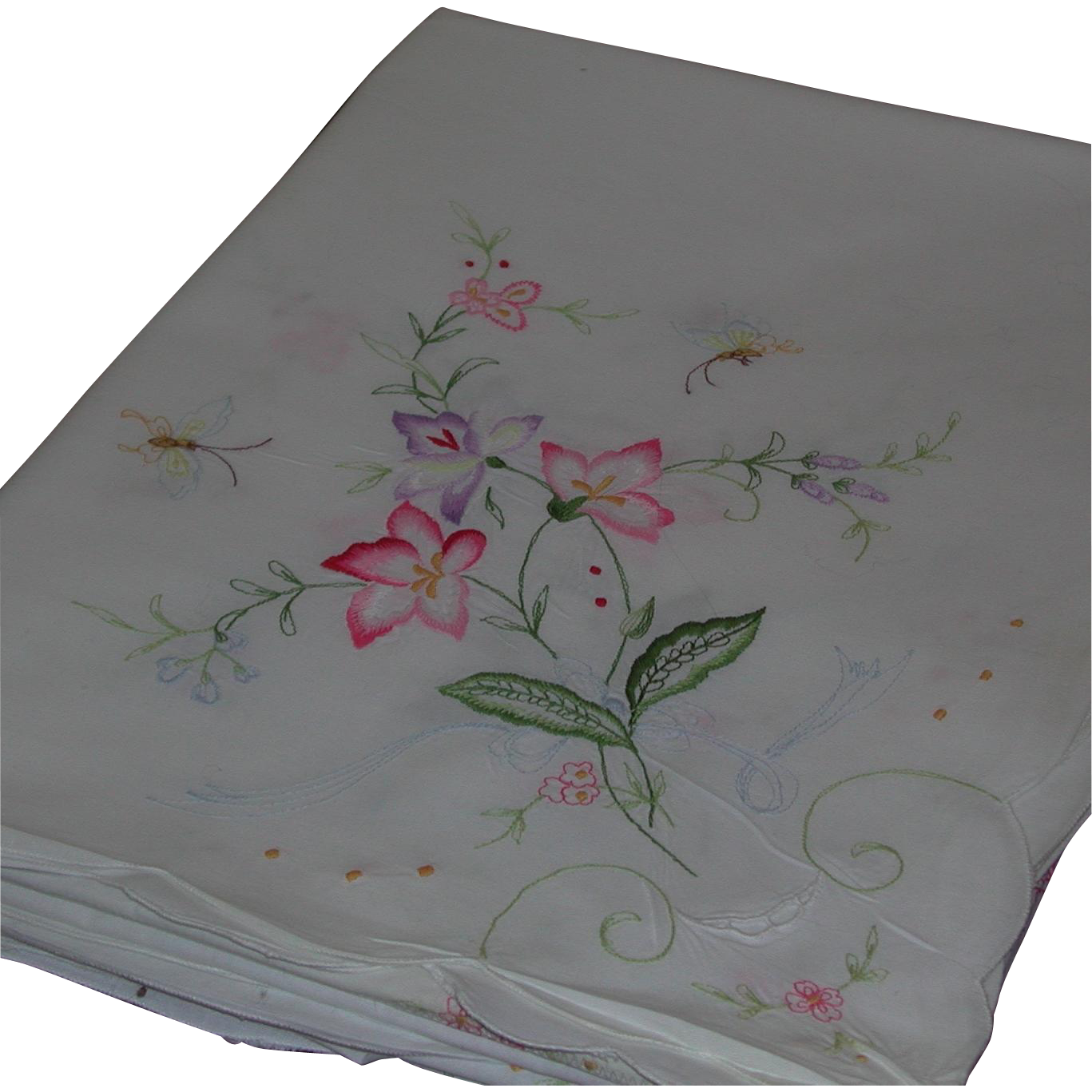 Large white cotton embroidered rectangular tablecloth for White cotton table cloth