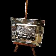 Judaica Art ~ .925 Cristal Sterling Silver Handcrafted Sculpture Art by Israeli Artist SAAD
