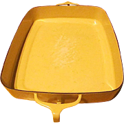 Vintage Kobenstyle-Yellow (Sungold) Enamelware Open Baking Pan By Dansk - 1956