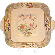 Lenox MING-BIRDS Square Handled Cake Plate