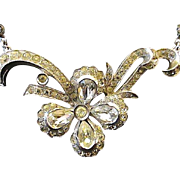 ENGEL BROTHERS Art Deco Crystal Rhinestone Choker Style Necklace - 1930s/40s