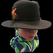 Women's GIOVANNIO Black Excello 100% Wool Felt Ladies/ Women's Designer Hat - Geo. W. Bollman & Co. U.S.A.