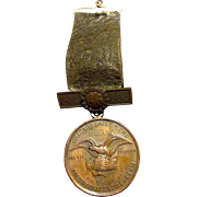 Antique Chicago Daily News American Patriotism Engraved 1905 Bronze Award Medal