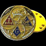 Masonic York Rite Square & Compass Freemason Lapel Pin