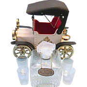 Amazing Collectable 1918 Model T Tin Lizzy Bar Car Music Box Whiskey/Scotch Decanter - Japan