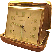 German Made Phinney-Walker Travel Alarm Clock c1950s-60s