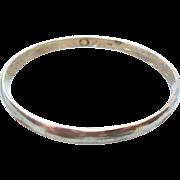 Vintage Plain Sterling Silver Bangle - 18 grams