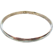 Vintage Plain Sterling Silver Bangle - 18 grams