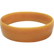 Vintage Apricot Celluloid Plastic Bracelet Bangle