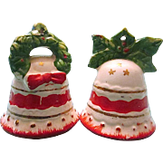 Vintage Christmas Bell Ornament Salt & Pepper Shakers - Japan