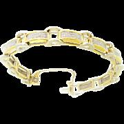 "18k White & Yellow Gold 3ctw SI~1 G~H Diamond Link Bracelet 6.5"""