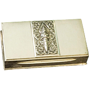 502gm. Vintage Alex & Co. Siam Sterling Silver Rectangular Cigarette Cigar Presentation Display Box 16+ ounces