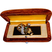 Vintage Jomaz Mazer AUTHENTIC Rhinestone Snow White Disney Seven Dwarves Pin Brooch