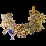 Solid Gold 50+ CHARM 94 grams 3oz Art Nouveau Antique 22k 18k 15k 14k 12K 10k 9k Bracelet Pink ROSE Gold